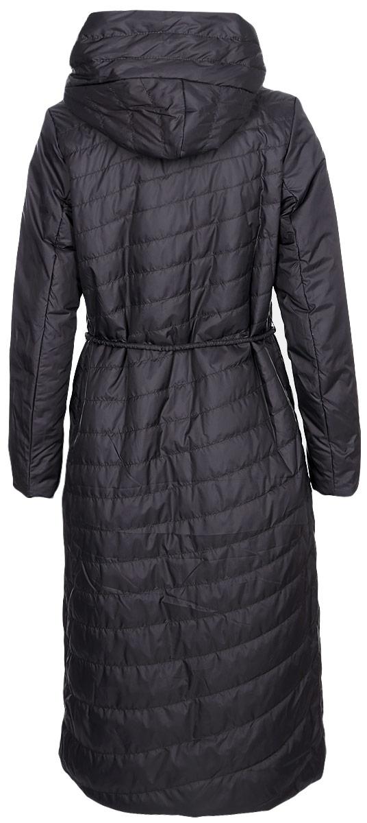 Куртка женская Clasna, цвет: темно-серый. CW18C-8603CW. Размер XXL (50)CW18C-8603CW(T710)Модная женская куртка Clasna, выполненная из стеганого высококачественного материала с синтепоновым утеплителем, отлично подойдет для прохладной погоды. Удлиненная модель прямого кроя с капюшоном застегивается на двухзамковую молнию с ветрозащитной планкой на кнопках и дополнена двумя накладными карманами. Линию талии подчеркивает входящий в комплект пояс-шнурок.