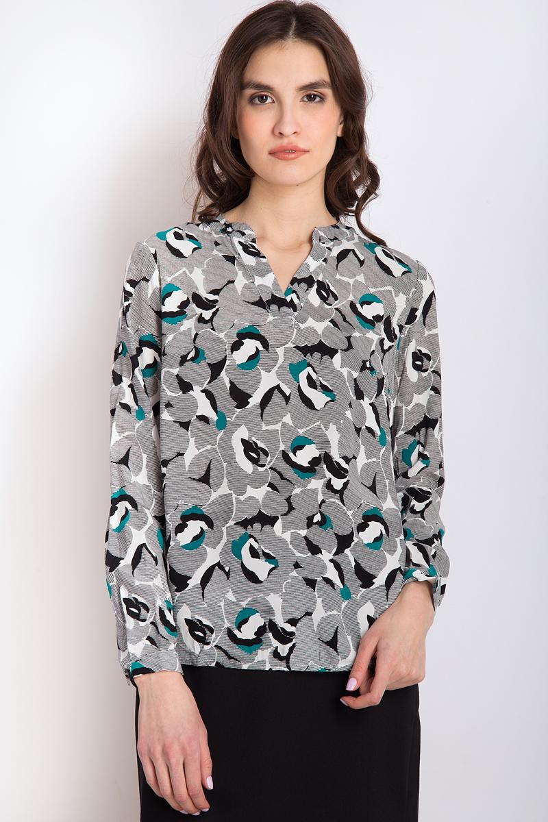 Блузка женская Finn Flare, цвет: черный. B18-11031_200. Размер M (46) цена 2017