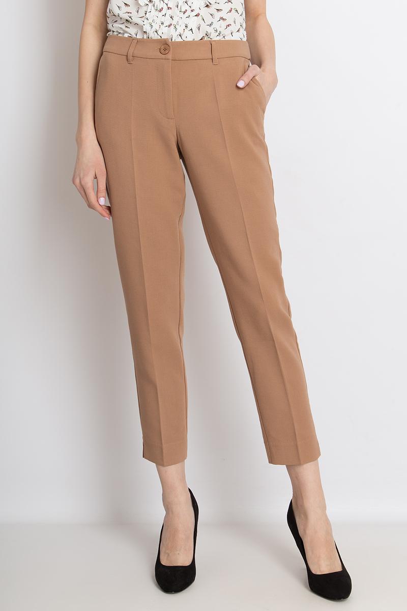 Брюки женские Finn Flare, цвет: коричневый. B18-11067_607. Размер S (44)B18-11067_607