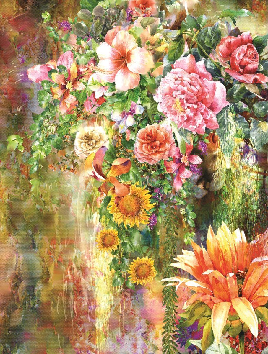 Фотообои флизелиновые Московская обойная фабрика Акварельные цветы, 200 х 270 см фотообои barton wallpapers фотообои f11902 200х270 см