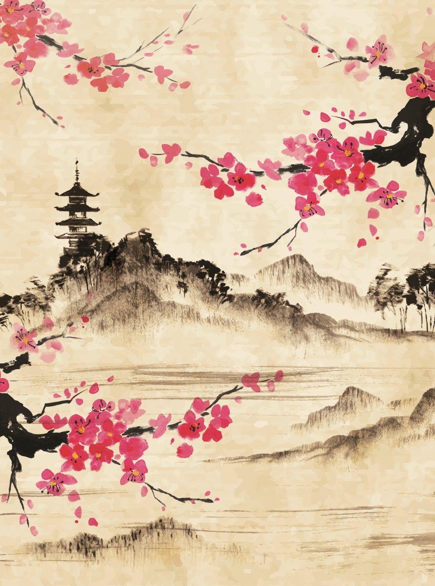 """Фотообои """"Японский мотив"""" сплетают нежные чувства, наполняют помещение приятной японской музыкой. Фотообои печатаются на чистом флизелине. Преимущества: • качественный, импортный, экологически чистый материал; • простота наклеивания; • длительный срок службы."""