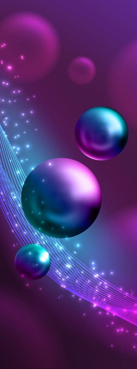 Фотообои флизелиновые Московская обойная фабрика Фиолетовые шары, 100 х 270 см