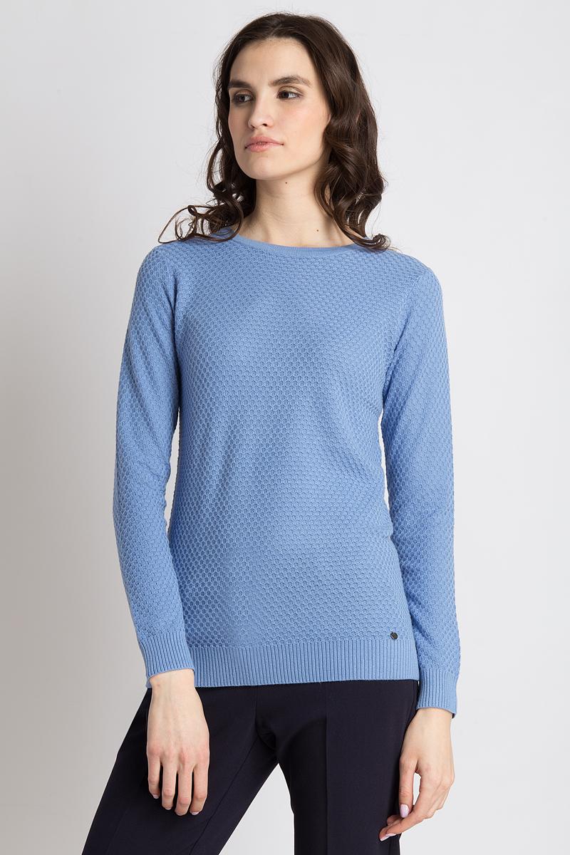 Джемпер женский Finn Flare, цвет: голубой. B18-11103_119. Размер XL (50)B18-11103_119