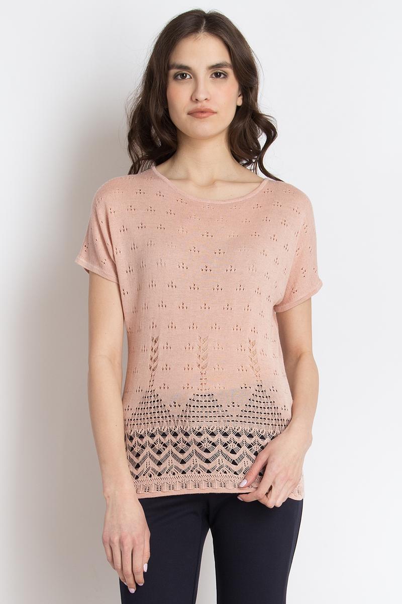 Джемпер женский Finn Flare, цвет: светло-розовый. B18-11108_314. Размер S (44)B18-11108_314