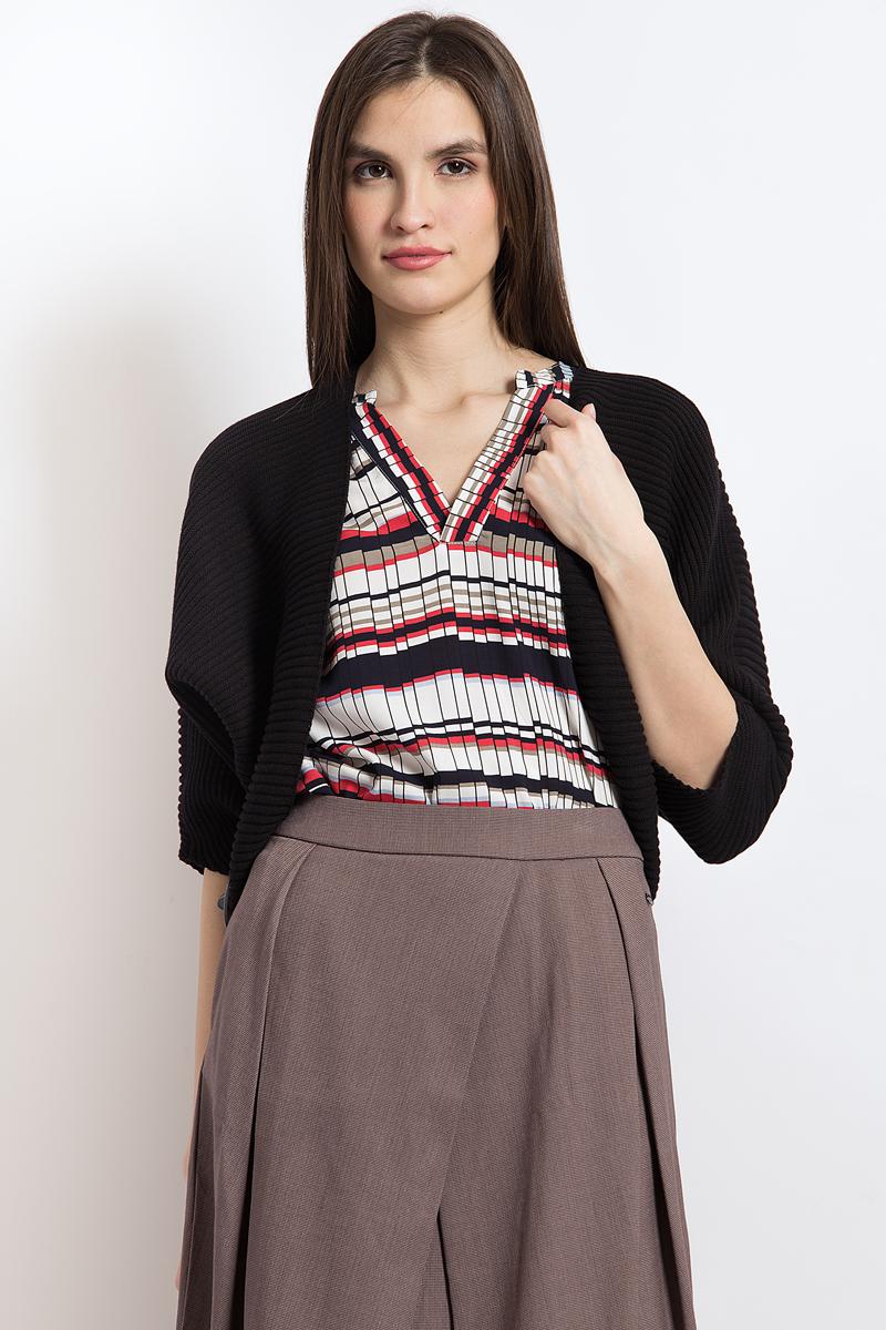 Жакет женский Finn Flare, цвет: черный. B18-12109_200. Размер XL (50) женский гардероб