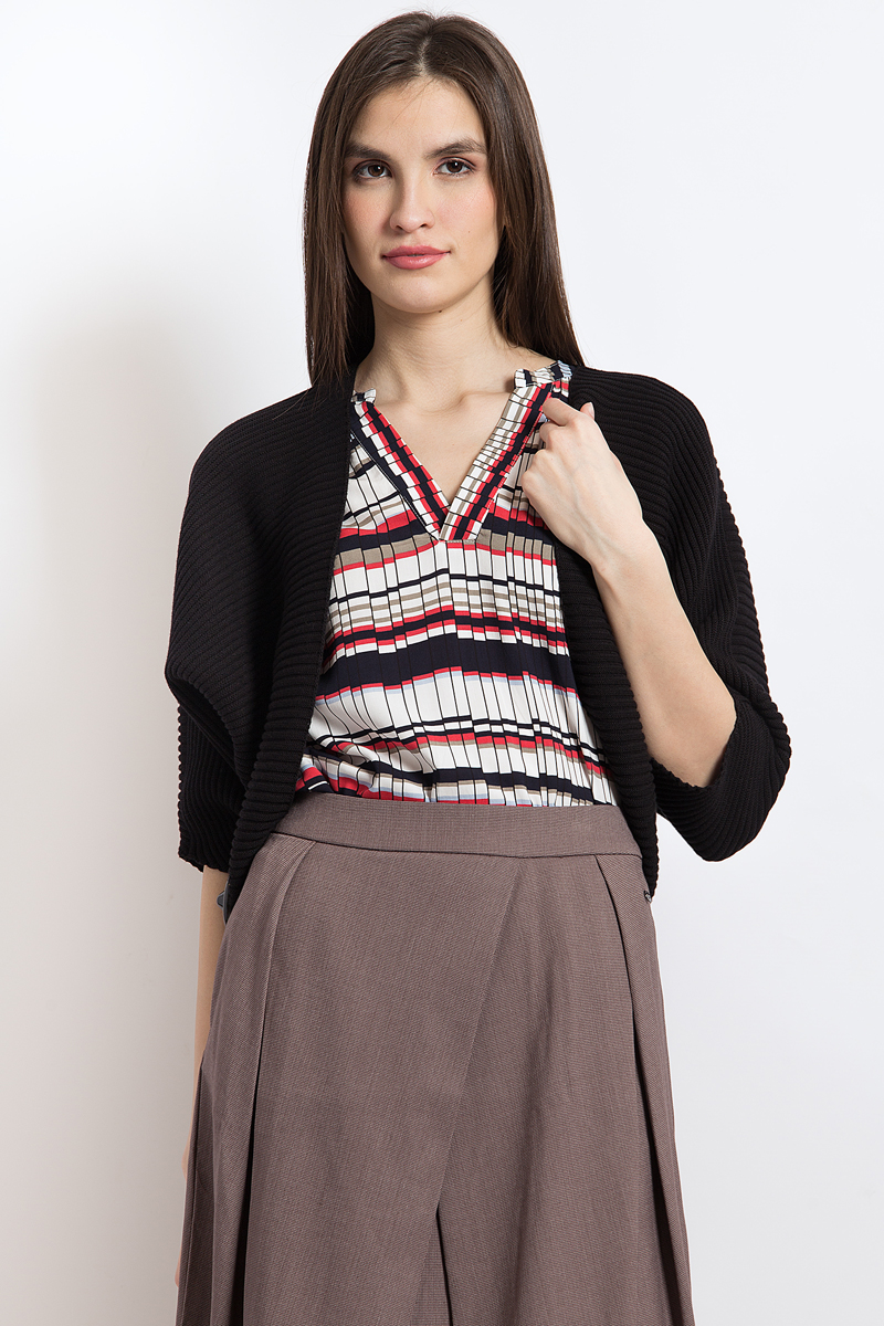 Жакет женский Finn Flare, цвет: черный. B18-12109_200. Размер XL (50)B18-12109_200