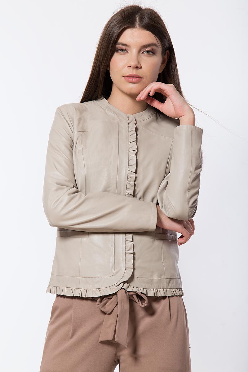 Куртка женская Finn Flare, цвет: бежевый. B18-11809_708. Размер M (46)B18-11809_708