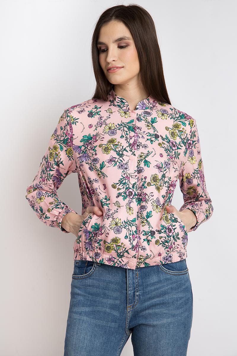 Куртка женская Finn Flare, цвет: светло-розовый. B18-11082_323. Размер M (46)B18-11082_323