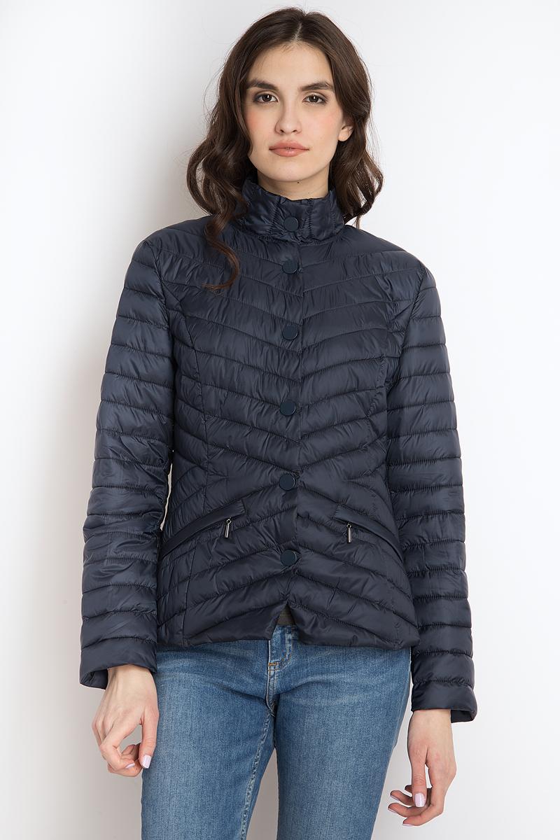 Куртка женская Finn Flare, цвет: темно-синий. B18-11009_101. Размер L (48)B18-11009_101