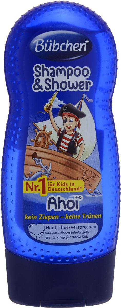 Bubchen Шампунь детский Йо-хо-хо для мытья волос и тела 230 мл bubchen шампунь для мытья волос и тела спорт и удовольствие bubchen 230 мл