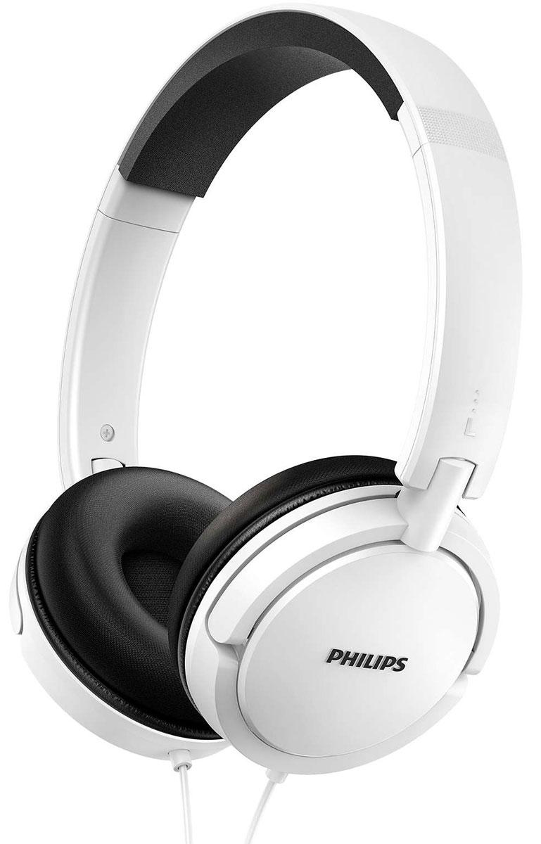 Philips SHL5000, White наушникиSHL5000WT/00Наушники Philips SHL5000 позволят вам наслаждаться музыкой в любом месте. Благодаря мягким подушечкам выможете продолжать слушать любимые композиции. Отличное качество звука дарит новые впечатления отпрослушивания.Мягкие кожаные подушечки позволят продолжить прослушивание любимых композиций Легкое оголовье повышает уровень комфорта и надежность Наушники компактно складываются для удобного хранения и транспортировки Мягкие подушечки удобно прилегают к уху, подавляя окружающие шумы Кабель длиной 1,2 метра позволяет разместить аудиоустройство в нужном вам месте Плоское оголовье из нержавеющей стали - легкое и в то же время гибкое, аккуратно и надежно охватываетголову, почти не увеличивая веса Излучатели 32 мм обеспечивают превосходное звучание с глубокими басам