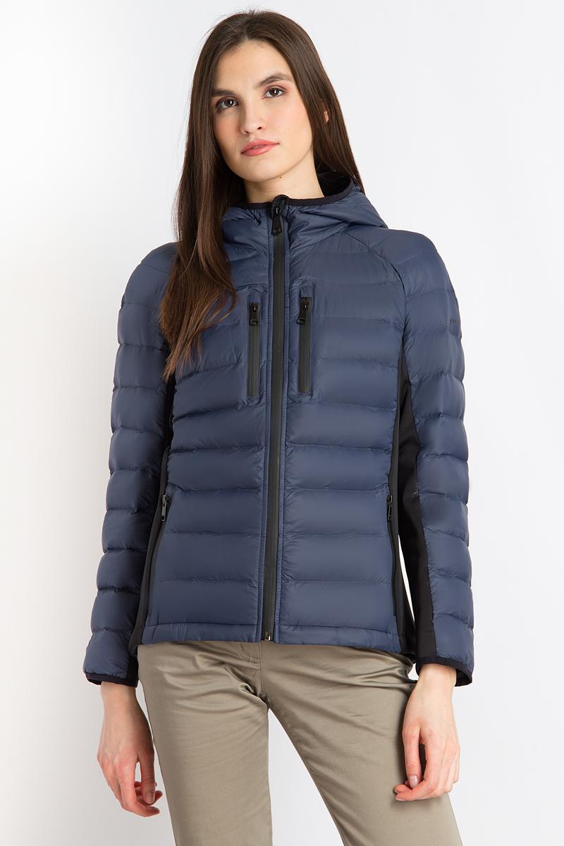 Куртка женская Finn Flare, цвет: темно-синий. B18-32081_101. Размер XL (50) платье finn flare цвет темно синий b17 11076 101 размер xl 50