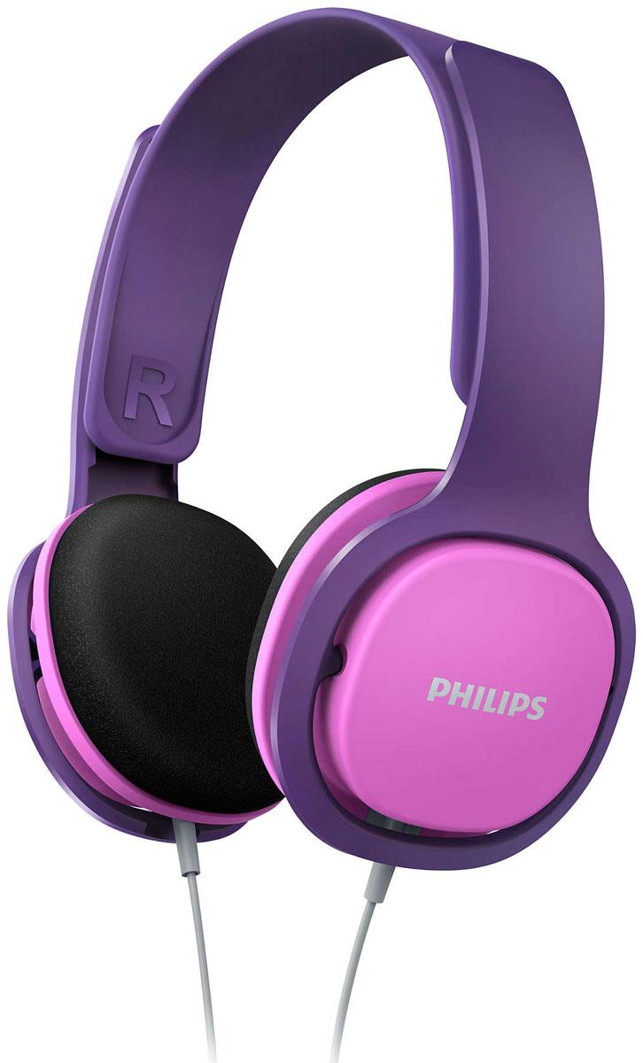 Philips SHK2000, Pink наушники для детейSHK2000PK/00Philips SHK2000 - идеальные наушники для маленьких ценителей музыки! Регулируемая конструкция, четкие басы и интересный и дизайн порадуют вашего ребенка, а прочный корпус выдержит любые испытания. Благодаря ограничителюгромкости (85 дБ) прослушивание музыки будет не только веселым, но и безопасным занятием.Удобное оголовье можно полностью регулировать, что обеспечивает удобную посадку для детей любоговозраста. Тонкое ультралегкое оголовье обеспечивает максимальный комфорт даже при длительномпрослушивании в течение нескольких часов. Наушники настолько удобны, что ребенок может даже совсем забытьо них. Надежная конструкция выполнена без использования креплений, что позволяет легко выдвигать иустанавливать на место детали наушников. 32-мм излучатели с неодимовыми магнитами обеспечивают хорошо сбалансированное звучание. Неодим являетсянаилучшим материалом для создания сильного магнитного поля, что улучшает чувствительность звуковойкатушки, усиливает низкие частоты и обеспечивает качественное сбалансированное звучание.Чашки наушников имеют мягкие насадки из вспененного материала для максимально комфортной и надежнойпосадки. Шумоизолирующие амбушюры значительно сокращают уровень внешнего шума — ребенку непотребуется увеличивать громкость для погружения в музыку.