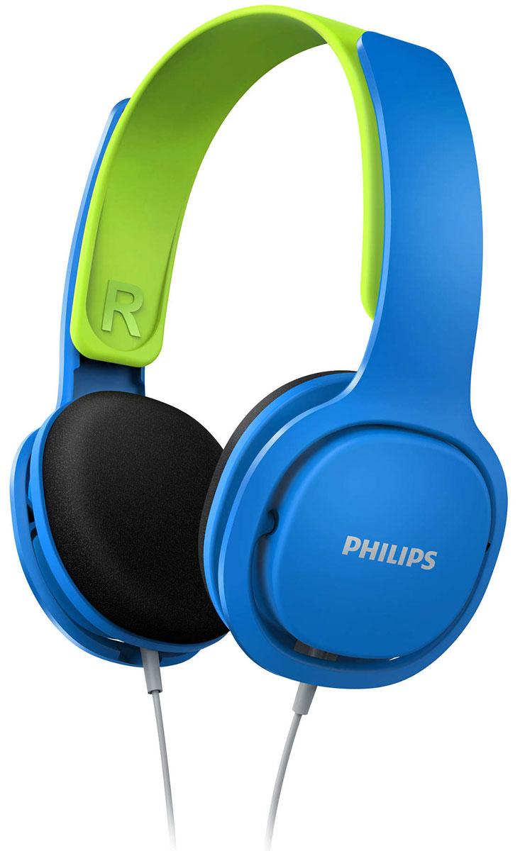 Philips SHK2000, Blue наушники для детейSHK2000BL/00Philips SHK2000 - идеальные наушники для маленьких ценителей музыки! Регулируемая конструкция, четкие басы и интересный и дизайн порадуют вашего ребенка, а прочный корпус выдержит любые испытания. Благодаря ограничителюгромкости (85 дБ) прослушивание музыки будет не только веселым, но и безопасным занятием.Удобное оголовье можно полностью регулировать, что обеспечивает удобную посадку для детей любоговозраста. Тонкое ультралегкое оголовье обеспечивает максимальный комфорт даже при длительномпрослушивании в течение нескольких часов. Наушники настолько удобны, что ребенок может даже совсем забытьо них. Надежная конструкция выполнена без использования креплений, что позволяет легко выдвигать иустанавливать на место детали наушников. 32-мм излучатели с неодимовыми магнитами обеспечивают хорошо сбалансированное звучание. Неодим являетсянаилучшим материалом для создания сильного магнитного поля, что улучшает чувствительность звуковойкатушки, усиливает низкие частоты и обеспечивает качественное сбалансированное звучание.Чашки наушников имеют мягкие насадки из вспененного материала для максимально комфортной и надежнойпосадки. Шумоизолирующие амбушюры значительно сокращают уровень внешнего шума - ребенку непотребуется увеличивать громкость для погружения в музыку.