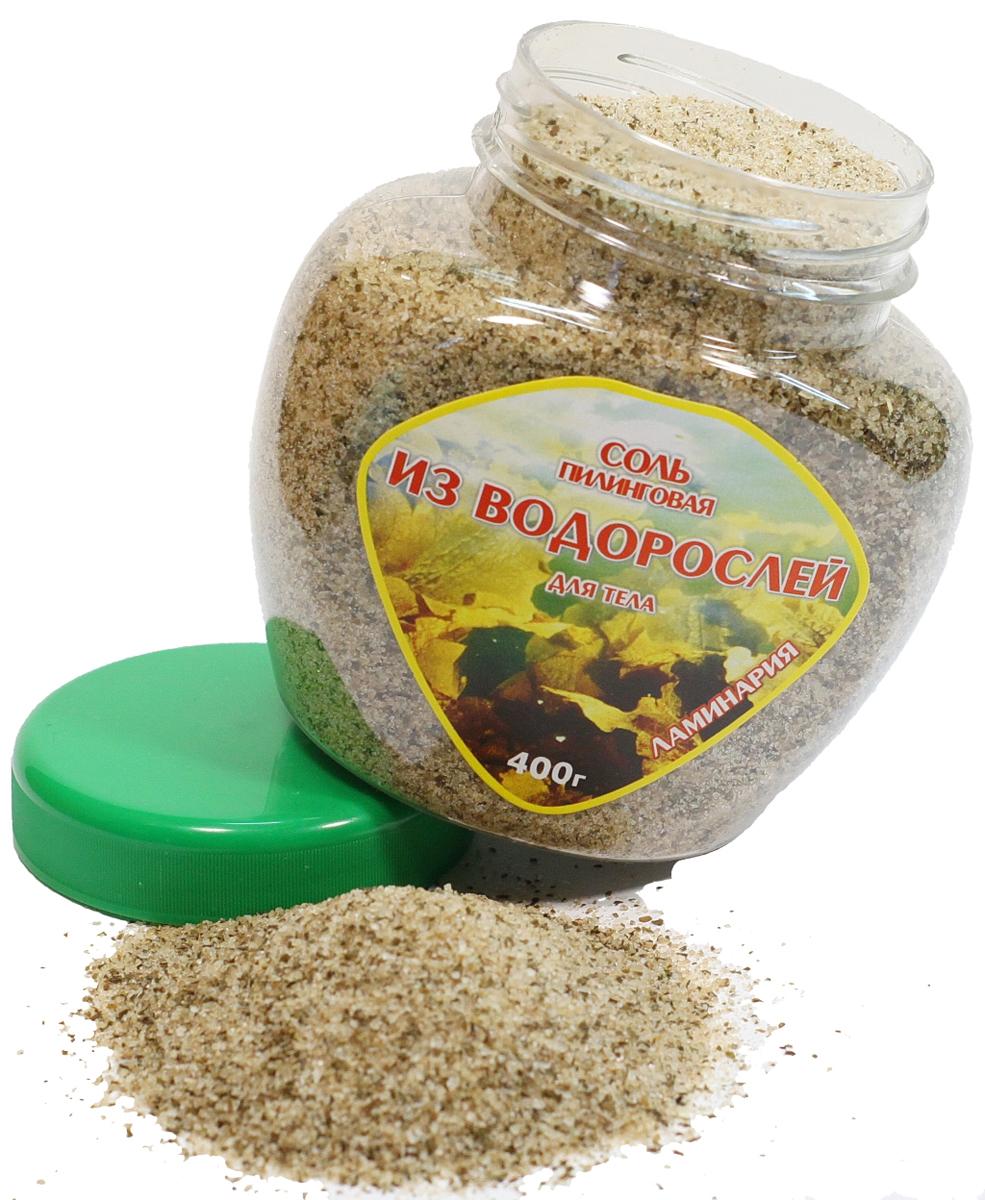 АОВК Соль для тела пилинговая из водорослей Ламинария, 400 г00-00000556Очищает поры, мягко отшелушивает кожу и питает микроэлементами и минералами. Соль обладает антицеллюлитным эффектом, способствует уменьшению жировых отложений, активизирует микроциркуляцию