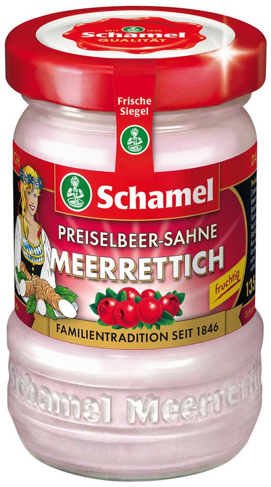 Schamel Хрен с брусникой и сливками, 135 г знаток хрен домашний 160 г