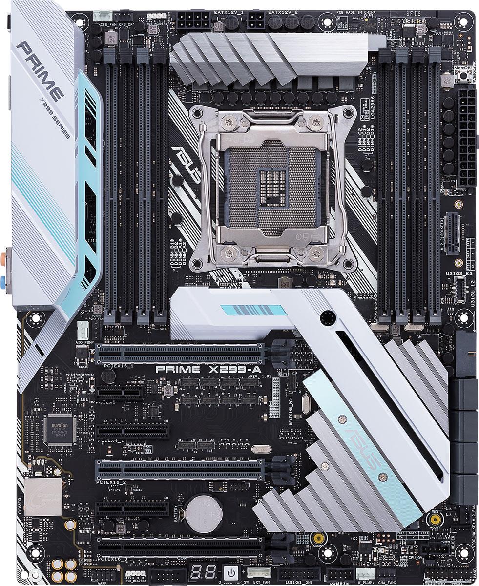 ASUS Prime X299-A материнская платаPRIME X299-AМатеринская плата ASUS Prime X299-A формата ATX с процессорным разъемом Intel LGA2066, радиатором дляслота M.2, поддержкой технологии Intel VROC и современными интерфейсами.Материнская плата Prime X299-A обеспечивает всесторонний контроль работы вентиляторов как с помощьюинтерфейса утилиты Fan Xpert 4, так и через UEFI BIOS. В отличие от традиционных BIOS-систем ASUS UEFI BIOSобладает графическим интерфейсом с поддержкой мыши. Он имеет режимы для новичков и энтузиастов.Используя четыре линии PCI Express 3.0/2.0, разъем M.2 обеспечивает скорость передачи данных до 32 Гбит/с. Онидеально подходит для подключения современных твердотельных накопителей.Плата Prime X299-A оборудована высокоэффективным радиатором для охлаждения подключенного к разъемуM.2 накопителя SSD, который позволяет снизить температуру на 20°C, а это означает оптимальнуюпроизводительность и улучшенную долговечность SSD.Память Intel Optane — это революционная технология энергонезависимой памяти, поддерживаемая Prime X299-A.Использование памяти Intel Optane позволяет достичь существенного повышения быстродействия работы ПК,включая уменьшение времени на стартовую загрузку системы и запуск программ.В материнской плате Prime X299-A предлагается комфортная поддержка интерфейса USB 3.1. Пользовательполучает преимущества скорости PCIe 3.0 x2 для порта USB 3.1 на передней панели системного блока.Материнская плата оборудована портом USB 3.1 Gen 2 Type-A и симметричным портом USB 3.1 Gen 2 Type-C,гарантирующими обратную совместимость с устройствами, обладающими USB-интерфейсом предыдущихверсий и максимальную пропускную способность 10 Гбит/с.Материнская плата Prime X299-A поддерживает ASUS ThunderboltEX 3 – сертифицированный Intel адаптерстандарта Thunderbolt 3, который позволяет легко реализовать в компьютере поддержку этого современногопериферийного интерфейса с пропускной способностью до 40 Гбит/с через один кабель. Thunderbolt 3поддерживает последовательное подклю