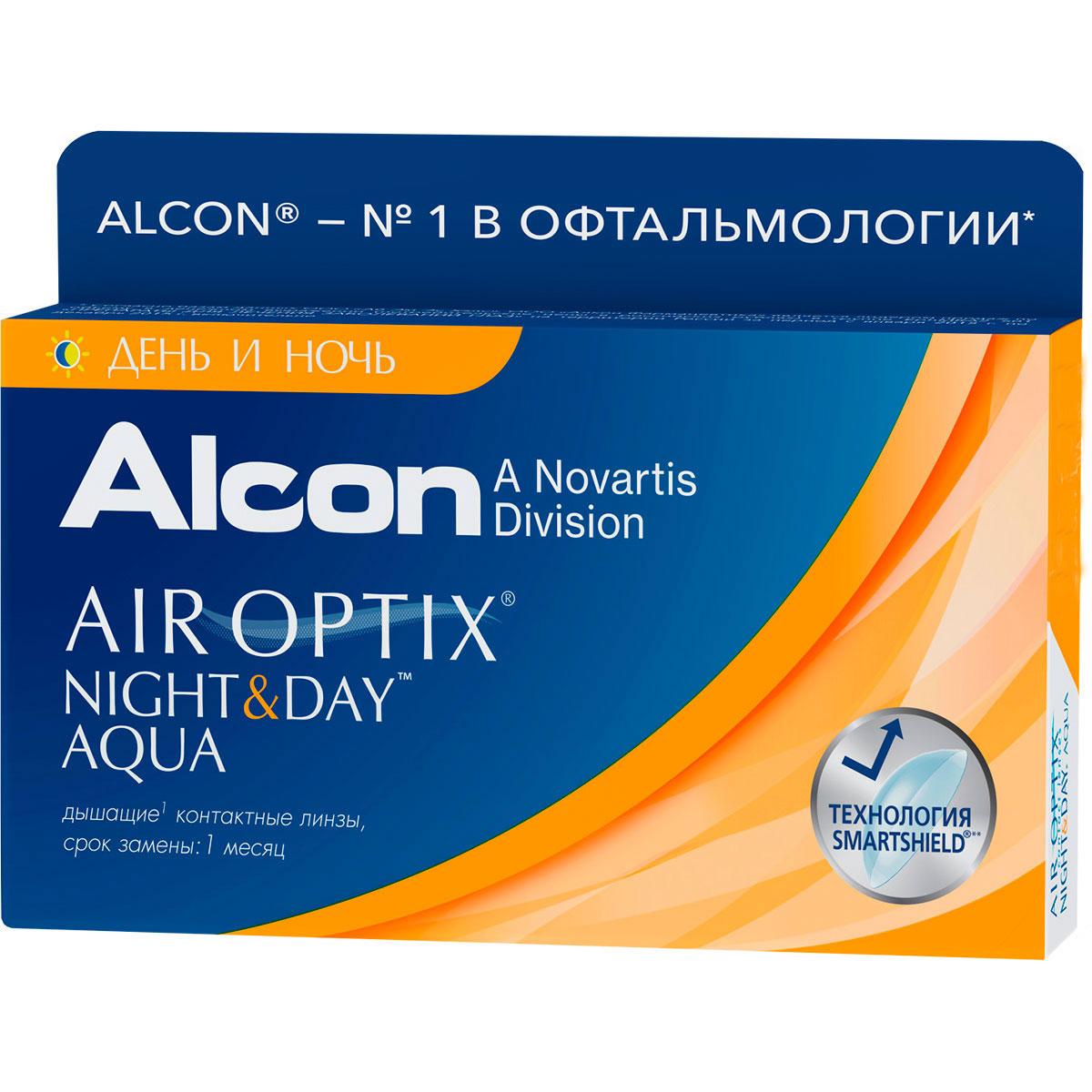 Alcon-CIBA Vision контактные линзы Air Optix Night & Day Aqua (3шт / 8.4 / -2.00)