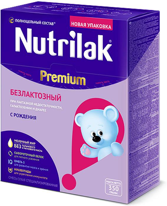 Nutrilak Premium безлактозный смесь с 0 месяцев, 350 г3887Смесь специализированная сухая безлактозная с ПолноЦельным СОСТАВОМ для диетического лечебного питания детей. ПОКАЗАНИЯ К ПРИМЕНЕНИЮ: лактазная недостаточность; галактоземия; диарейный синдром. ОСОБЕННОСТИ СОСТАВА: не содержит лактозу; сывороточный белок. УНИКАЛЬНЫЙ СБАЛАНСИРОВАННЫЙ ЖИРОВОЙ СОСТАВ: без пальмового и рапсового масла; натуральный молочный жир. ВАЖНЫЕ НУТРИЕНТЫ ДЛЯ РАЗВИТИЯ РЕБЕНКА: Омега-3 жирные кислоты (DHA, EPA); нуклеотиды. Смесь разработана совместно с ведущими специалистами Научного центра здоровья детей Министерства здравоохранения Российской Федерации. Уважаемые клиенты! Обращаем ваше внимание на то, что упаковка может иметь несколько видов дизайна. Поставка осуществляется в зависимости от наличия на складе.