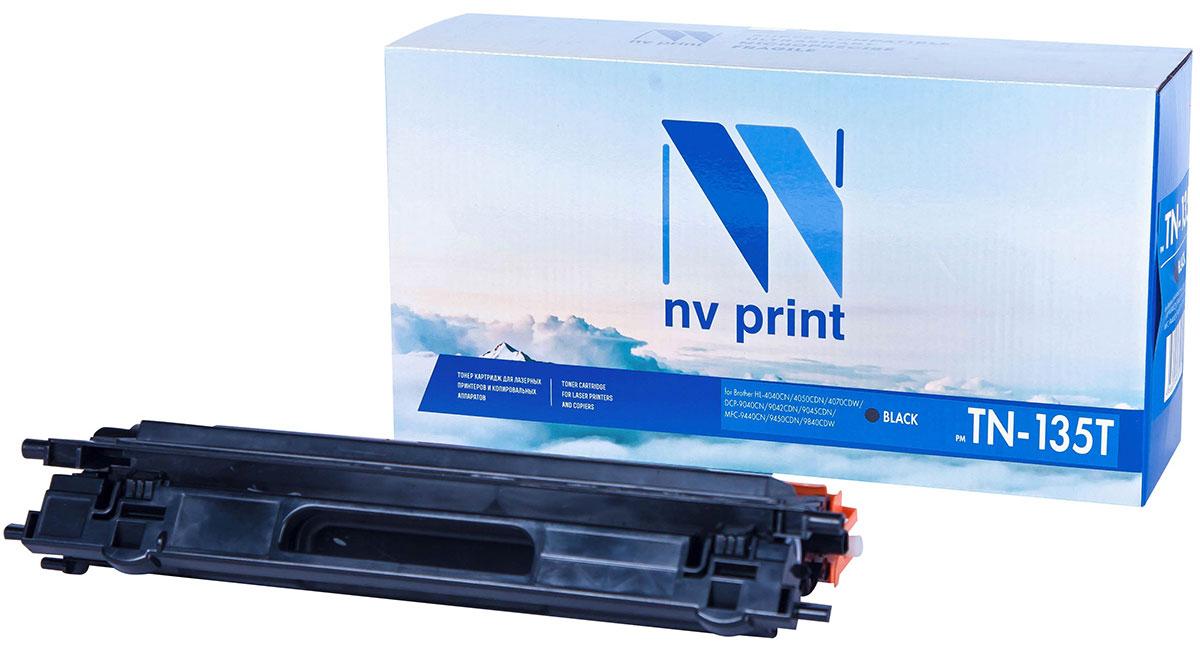 NV Print TN135T, Black тонер-картридж для Brother HL-4040/4050/4070/DCP-9040/9042/9045/MFC-9440/9450/9840NV-TN135TBkСовместимый лазерный картридж NV Print TN135T для печатающих устройств Brother - это альтернатива приобретению оригинальных расходных материалов. При этом качество печати остается высоким. Картридж обеспечивает повышенную чёткость текста и плавность переходов оттенков цвета и полутонов, позволяет отображать мельчайшие детали изображения.Лазерные принтеры, копировальные аппараты и МФУ являются более выгодными в печати, чем струйные устройства, так как лазерных картриджей хватает на значительно большее количество отпечатков, чем обычных. Для печати в данном случае используются не чернила, а тонер.