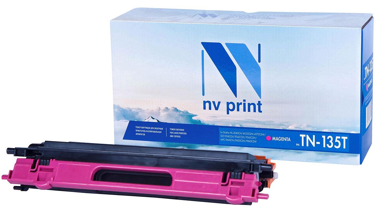 NV Print TN135T, Magenta тонер-картридж для Brother HL-4040/4050/4070/DCP-9040/9042/9045/MFC-9440/9450/9840NV-TN135TMСовместимый лазерный картридж NV Print TN135T для печатающих устройств Brother - это альтернатива приобретению оригинальных расходных материалов. При этом качество печати остается высоким. Картридж обеспечивает повышенную чёткость текста и плавность переходов оттенков цвета и полутонов, позволяет отображать мельчайшие детали изображения.Лазерные принтеры, копировальные аппараты и МФУ являются более выгодными в печати, чем струйные устройства, так как лазерных картриджей хватает на значительно большее количество отпечатков, чем обычных. Для печати в данном случае используются не чернила, а тонер.