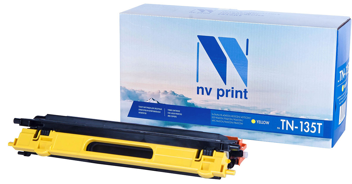 NV Print TN135T, Yellow тонер-картридж для Brother HL-4040/4050/4070/DCP-9040/9042/9045/MFC-9440/9450/9840 alzenit for brother 4040 4070 hl 4040 hl 4070 original used fuser unit assembly 220v printer parts on sale