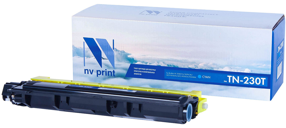 NV Print TN230T, Cyan тонер-картридж для Brother HL-3040/3070/DCP-9010/MFC-9120/9320NV-TN230TCСовместимый лазерный картридж NV Print TN230T для печатающих устройств Brother - это альтернатива приобретению оригинальных расходных материалов. При этом качество печати остается высоким. Картридж обеспечивает повышенную чёткость текста и плавность переходов оттенков цвета и полутонов, позволяет отображать мельчайшие детали изображения.Лазерные принтеры, копировальные аппараты и МФУ являются более выгодными в печати, чем струйные устройства, так как лазерных картриджей хватает на значительно большее количество отпечатков, чем обычных. Для печати в данном случае используются не чернила, а тонер.