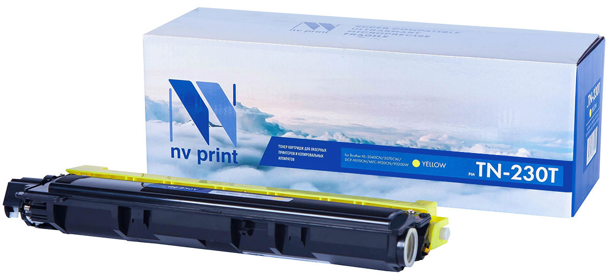 NV Print TN230T, Yellow тонер-картридж для Brother HL-3040/3070/DCP-9010/MFC-9120/9320 картридж brother lc525xly yellow для dcp j100 j105 j200