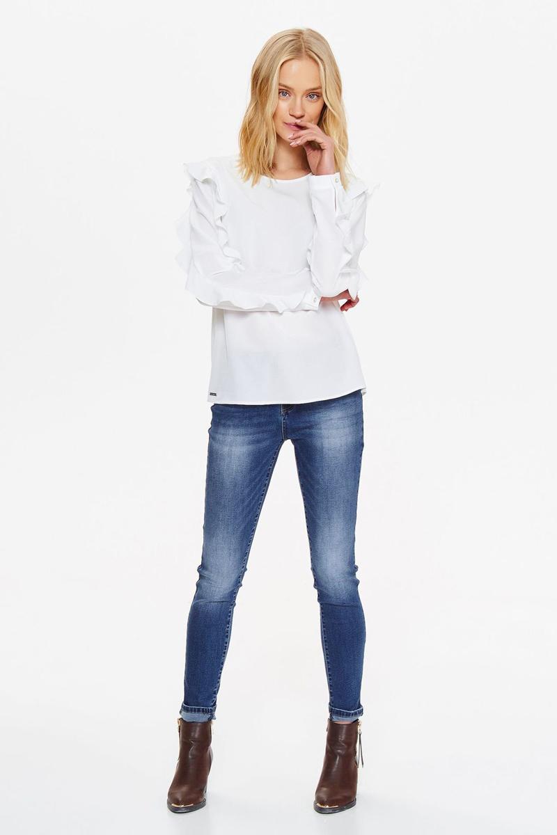 Блузка женская Top secret, цвет: белый. SBD0819BI. Размер 40 (48)