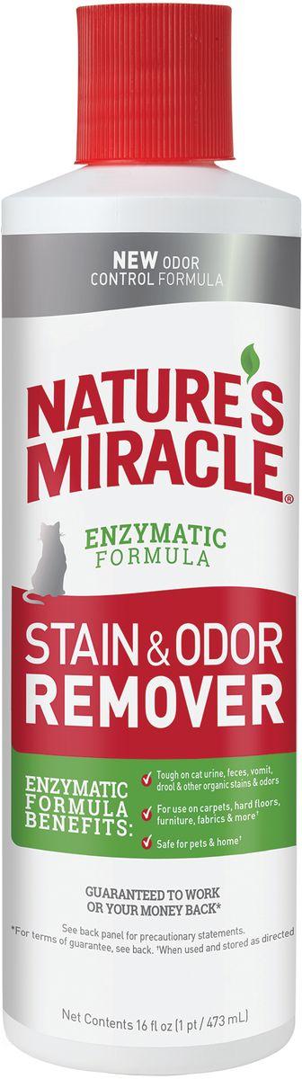 Уничтожитель пятен и запахов от кошек 8in1 NM JFC S&O Remover, универсальный, 473 мл лайна мс спрей для удаления меток и запахов домаш животных пихта 0 75л