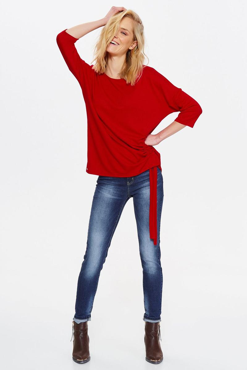 Блузка женская Top secret, цвет: красный. SBL0590CE. Размер 42 (50) брюки джинсы и штанишки s'cool брюки для девочки hip hop 174059
