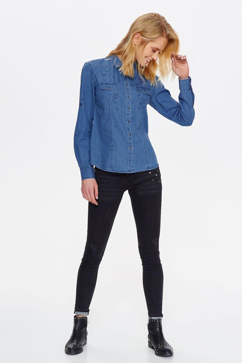 Рубашка женская Top secret, цвет: синий. SKL2515NI. Размер 34 (42)SKL2515NI