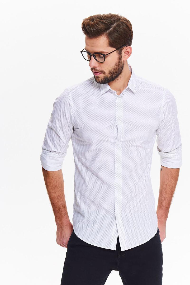 Рубашка мужская Top secret, цвет: белый. SKL2548BI. Размер 44/45 (52)SKL2548BI