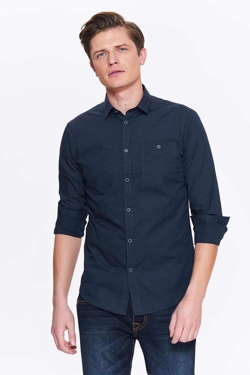 Рубашка мужская Top secret, цвет: синий. SKL2544NI. Размер 40/41 (48)SKL2544NI