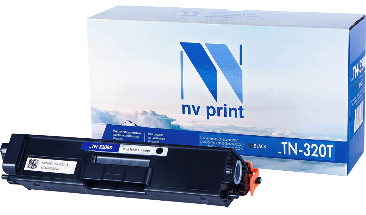 NV Print TN320T, Black тонер-картридж для Brother HL-4140/4150/4570/DPC-9055/9270/MFC-9460/9465/9970NV-TN320TBkСовместимый лазерный картридж NV Print TN320T для печатающих устройств Brother - это альтернативаприобретению оригинальных расходных материалов. При этом качество печати остается высоким. Картриджобеспечивает повышенную чёткость текста и плавность переходов оттенков цвета и полутонов,позволяет отображать мельчайшие детали изображения.Лазерные принтеры, копировальные аппараты и МФУ являются более выгодными в печати, чем струйныеустройства, так как лазерных картриджей хватает на значительно большее количество отпечатков, чем обычных.Для печати в данном случае используются не чернила, а тонер.