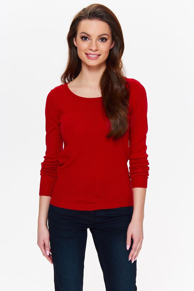 Джемпер женский Top Secret, цвет: красный. SSW2288CE. Размер 42 (50) bdsm арсенал ошейник с шипами коричневый с кольцом для карабина