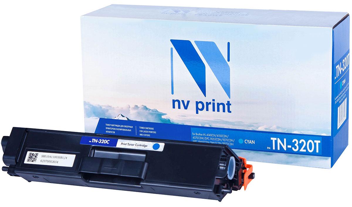 NV Print TN320T, Cyan тонер-картридж для Brother HL-4140/4150/4570/DPC-9055/9270/MFC-9460/9465/9970 nv print nv tn1075 black тонер картридж для brother hl1012 dcp1510 1512 mfc1815 1112r