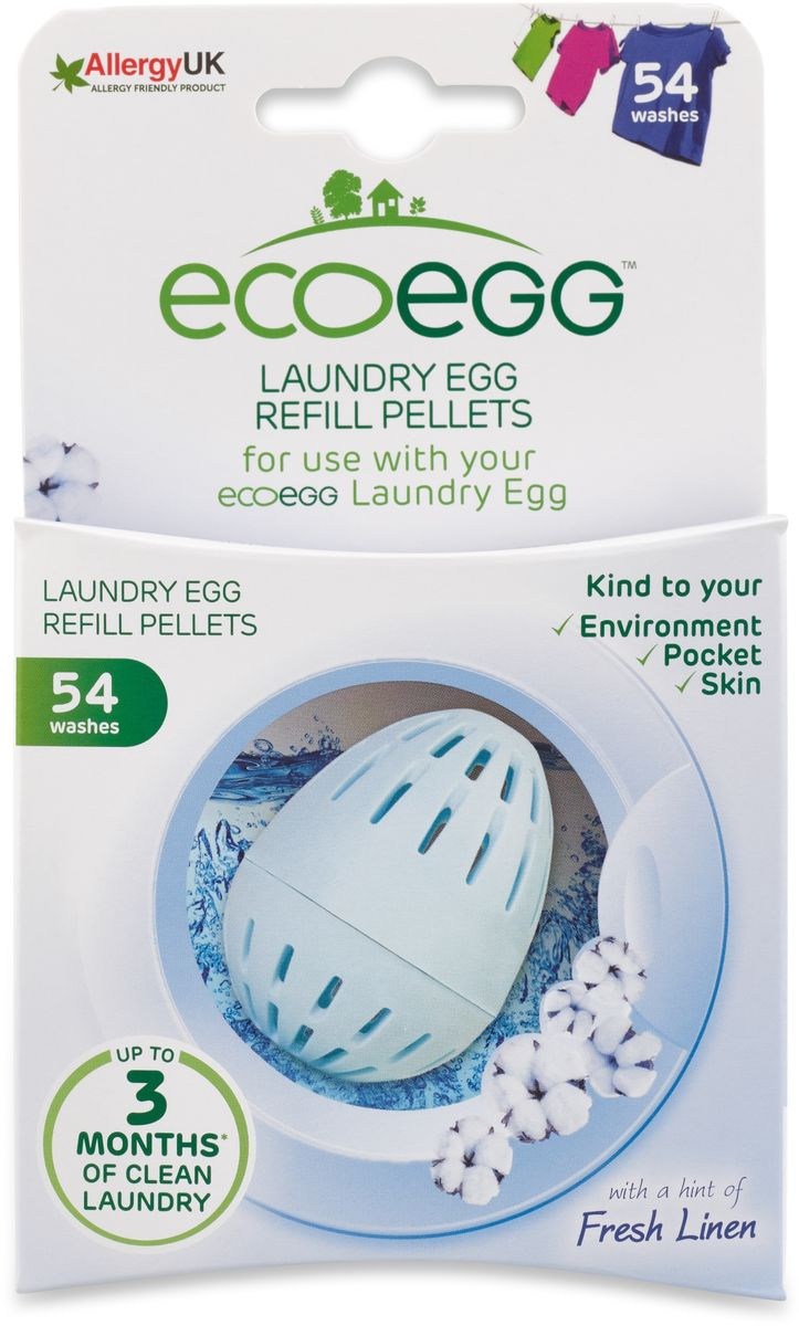 Вкладыш-заправка для стирки Ecoegg Свежее белье, 54 стирки930826Как только в экояйце Ecoegg закончатся гранулы, не выбрасывайте его! У вас ест возможность использовать его вновь. Необходимо просто приобрести новый комплект заправок, рассчитанный на 54 стирки. Их хватит на 1 год стирки. Позволяют использовать контейнер-яйцо на протяжении 10 лет и более! Гарантия производителя на контейнер-яйцо – 10 лет!