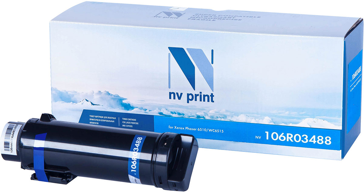 NV Print NV-106R03488, Black тонер-картридж для Xerox Phaser 6510/WorkCentre 6515 картридж для принтера nv print для hp cf403x magenta