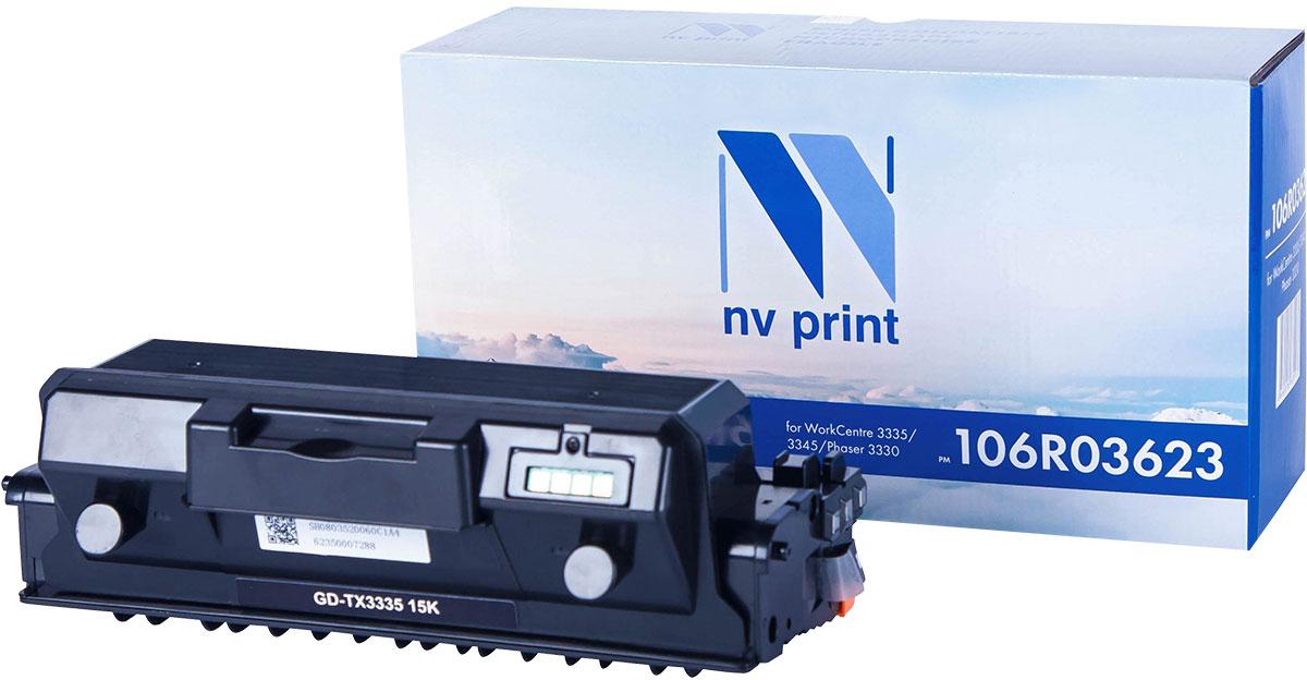 NV Print 106R03623, Black тонер-картридж для Xerox WorkCentre 3335/3345/Phaser 3330NV-106R03623Совместимый лазерный картридж NV Print 106R03623 для печатающих устройств Xerox - это альтернатива приобретению оригинальных расходных материалов. При этом качество печати остается высоким. Картридж обеспечивает повышенную чёткость чёрного текста и плавность переходов оттенков серого цвета и полутонов, позволяет отображать мельчайшие детали изображения.Лазерные принтеры, копировальные аппараты и МФУ являются более выгодными в печати, чем струйные устройства, так как лазерных картриджей хватает на значительно большее количество отпечатков, чем обычных. Для печати в данном случае используются не чернила, а тонер.