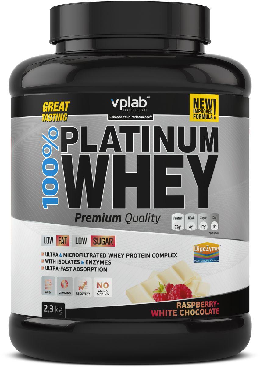 Протеин сывороточный Vplab Platinum Whey, малина в шоколаде, 2,3 кг протеин сывороточный vplab platinum whey малина в шоколаде 2 3 кг