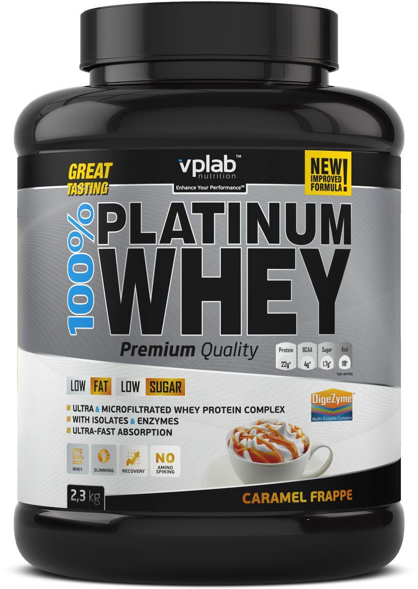 "Протеин сывороточный Vplab ""Platinum Whey"", карамель, 2,3 кг, VP Laboratory"