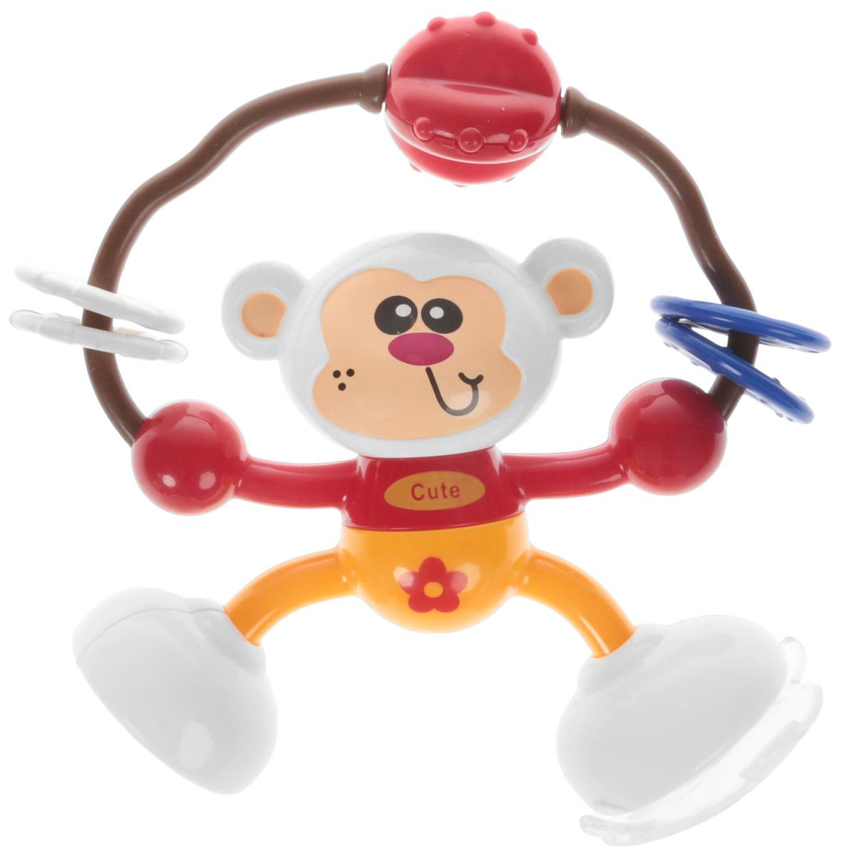 Ути-Пути Развивающая игрушка Обезьянка цвет красный оранжевый elc развивающая игрушка мышка на скутере цвет красный