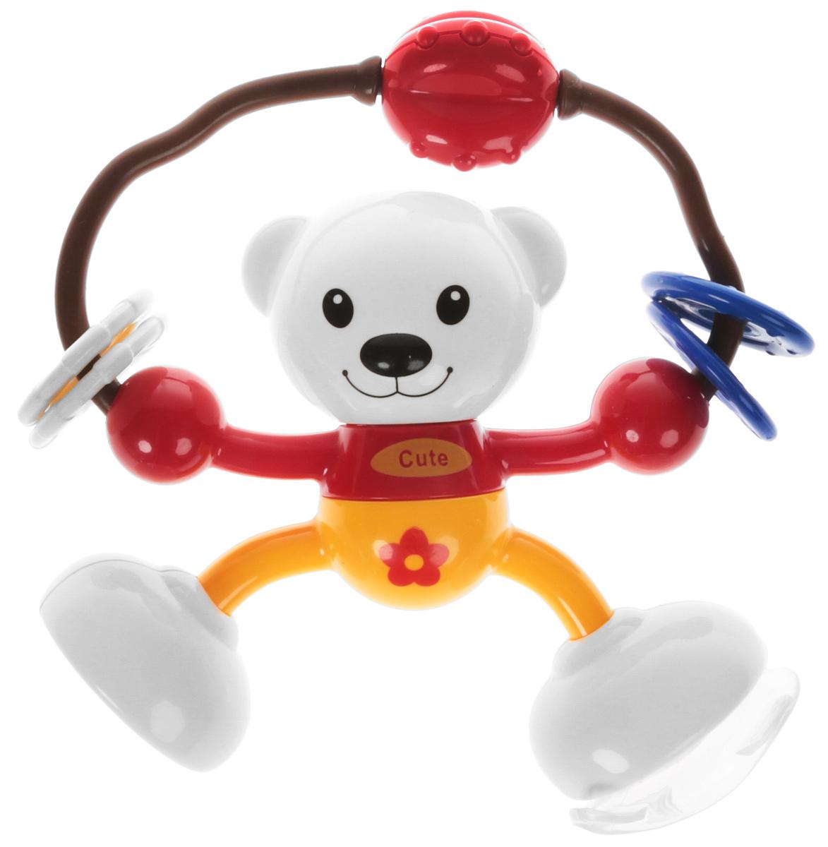 Ути-Пути Развивающая игрушка Мишка цвет красный оранжевый игрушка