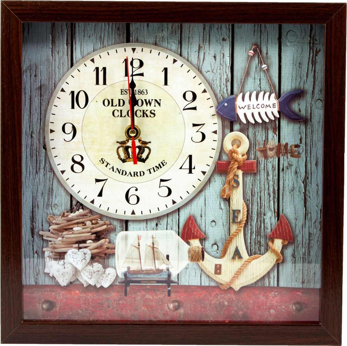 Часы настенные Морская сказка, 29 х 29 см. 229722 настенные и настольные часы