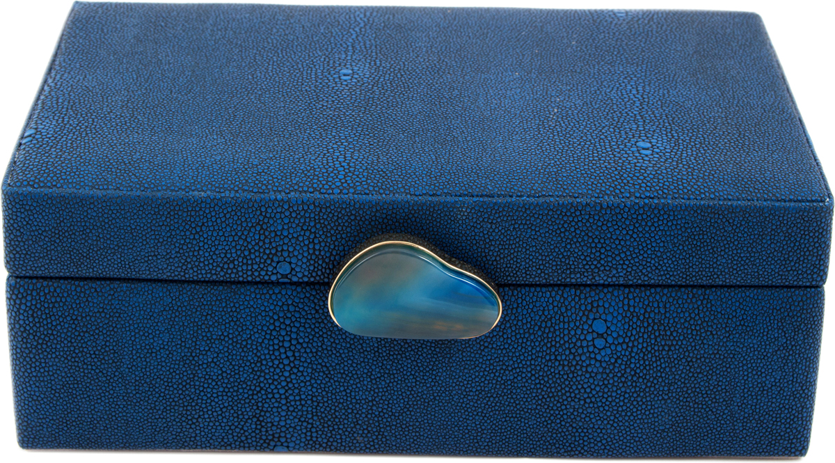Шкатулка для украшений, цвет: синий, 23 х 17 х 9 см. 238110 настенные часы lowell lw 21459