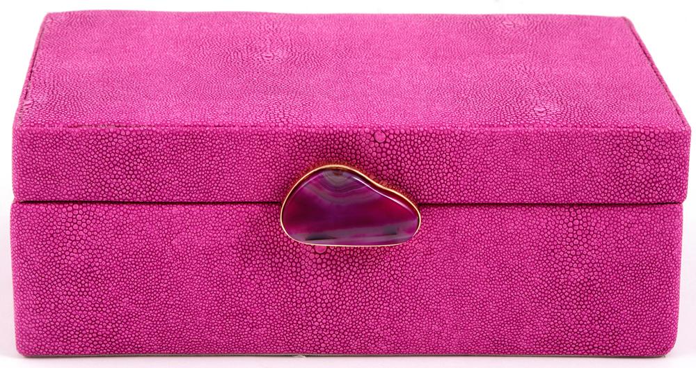 Шкатулка для украшений, цвет: розовый, 23 х 17 х 9 см. 238111 шкатулка для ювелирных украшений win max 20 х 17 х 9 см