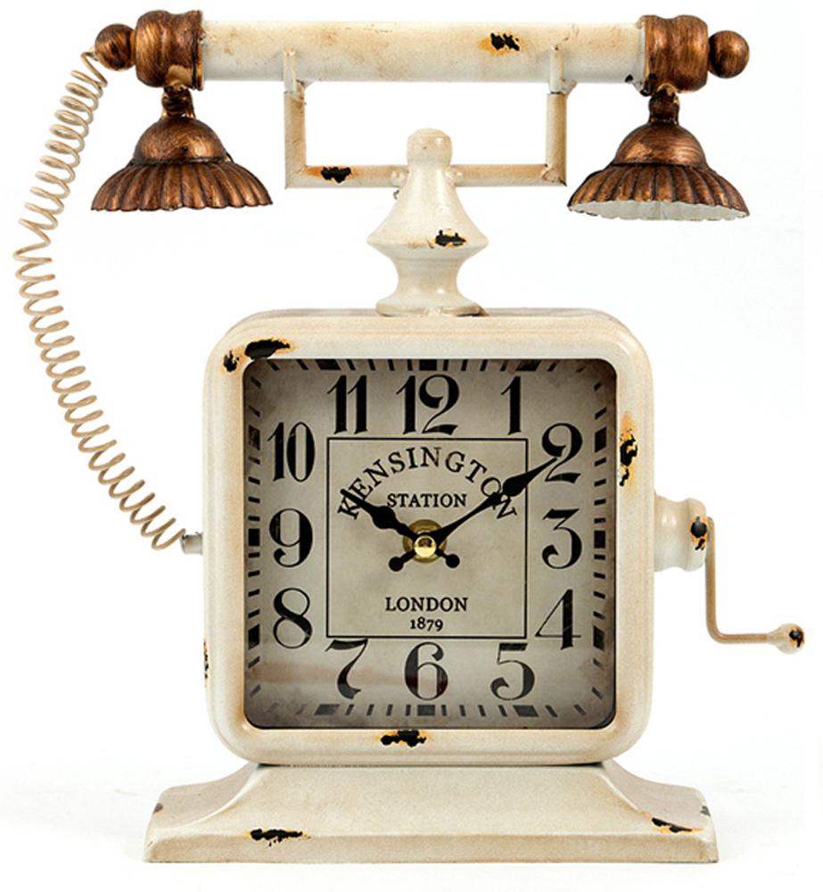 Часы настольные, цвет: белый, 24 х 8 х 27 см . 29653 настенные и настольные часы