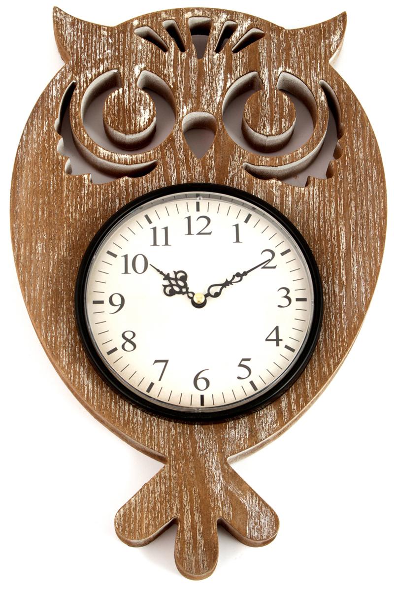 Часы настенные, цвет: коричневый, 25 х 5 х 39 см. 2966129661Часы, будь то настольные или настенные, служат не только стильным декором помещения, а так же добавляют уюта в дом или офис. Невозможно представить ни один интерьер без часов. Данные часы прекрасно украсят ваш дом или послужат идеальным подарком близкому человеку.