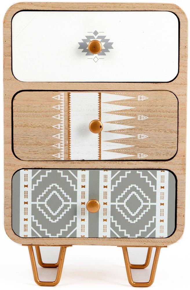 Шкатулка для хранения, цвет: бежевый, 20 х 13 х 32 см. 38628 шкатулка для ювелирных украшений win max 20 х 17 х 9 см
